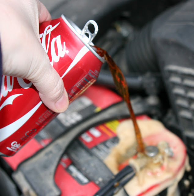 Cleaning A Corroded Car Battery With Coca Cola News About Energy