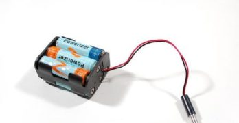 Make a Battery Holder with Erasers & Pins