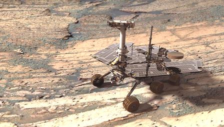 Opportunity Rover Set to Warm Its Batteries