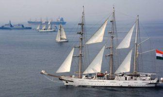 wind power sailing across the sea