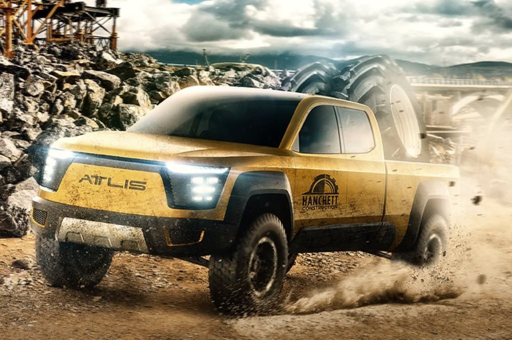 New Electric Pickup Truck With Fast Charging Battery