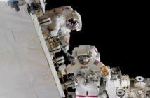 dramatic spacewalk