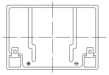 TLV1229L - 12V 2.9Ah Sealed Lead Acid Battery with F1 Terminals - Top Diagram