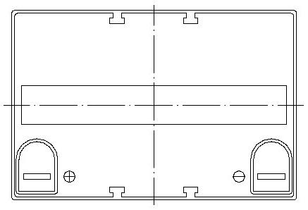 TLV1233 - 12V 33Ah Sealed Lead Acid Battery with Nut & Bolt Terminals - Top Diagram
