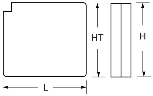 TLV605 - 6V 0.5Ah Sealed Lead Acid Battery with WL Terminals - Side Diagram