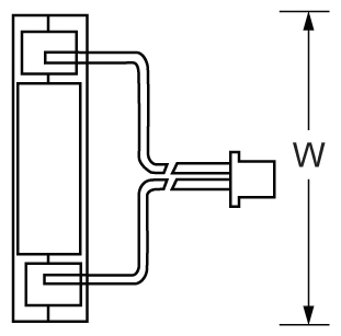 TLV605 - 6V 0.5Ah Sealed Lead Acid Battery with WL Terminals - Top Diagram