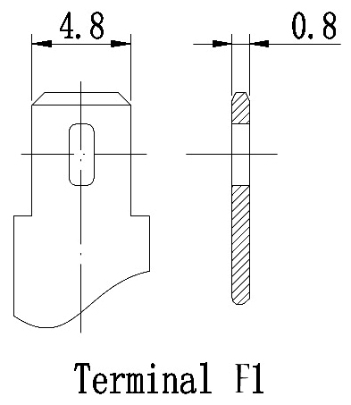 TLV6120F1 - 6V 12Ah Sealed Lead Acid Battery with F1 Terminals - Terminal Diagram