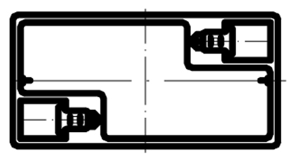 TLV628 - 6V 2.8Ah Sealed Lead Acid Battery with F1 Terminals - Top Diagram