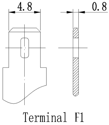 TLV635 - 6V 3.5Ah Sealed Lead Acid Battery with F1 Terminals - Terminal Diagram