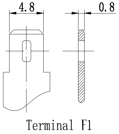 TLV672 - 6V 7.2Ah Sealed Lead Acid Battery with F1 Terminals - Terminal Diagram